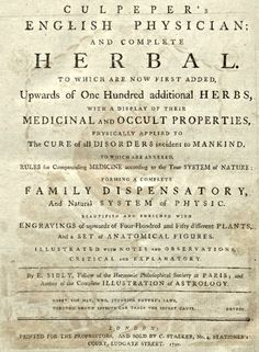 page from old herbal book