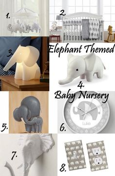 8 Products for Your Gender Neutral: Elephant Themed Baby Nursery
