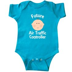 Future Air Traffic Controller occupation themed Infant Creeper baby boy or girl shower gift idea. $16.99 www.homewiseshopperkids.com