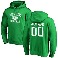 North Texas Mean Green Personalized Distressed Football Pullover Hoodie - Green - $69.99