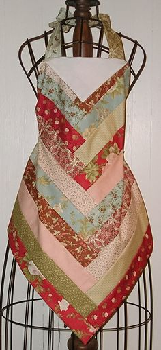 Jelly roll.... @modafabric 2.5'' strips into an apron                                                                                                                                                      More