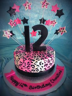 Leopard Cake I Need This For My Bithday