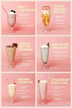 milkshakesss – Famous Last Words Yummy Smoothie Recipes, Shake Recipes, Smoothie Drinks, Yummy Drinks, Yummy Food, Oreo Smoothie, Drink Recipes Nonalcoholic, Strawberry Smoothie, Healthy Drinks
