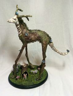 Tall Forest Beast Finally Complete! - POTTERY, CERAMICS, POLYMER CLAY