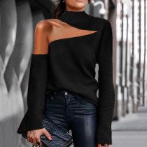 Looks Style, My Style, Nasa Clothes, Off Shoulder Sweater, Shoulder Dress, One Shoulder, Jumpsuit With Sleeves, High Collar, Collar Bone