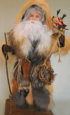 Father Christmas of the North Woods Father Christmas, Christmas Music, Christmas Images, Vintage Christmas, Christmas Crafts, German Santa Claus, Santa Claus Figure, Santa Clause, Santa Decorations