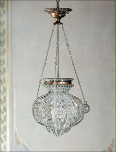 19th-century Florentine style one-light crystal chandelier. Details on our website: DecorativeCrafts.com #decorativecrafts #decorative #lighting #lightfixture #chandelier #interiordesign #interiordecor #interior #lightfixtures #chandeliers #ceiling #homedesign #roomdesign #officedesign #elegant #chic #lavish #luxury #luxurious #crystal