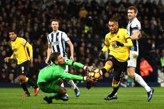 Ben Foster of West Bromwich Albion saves a shot by Roberto Pereyra of Watford during the Premier League match between West Bromwich Albion and Watford at The Hawthorns on December 3, 2016 in West Bromwich, England.