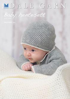 """Gratis oppskrifter på 6 """"Hentesett"""" til baby fra Dale Garn   Strikkeoppskrift.com"""