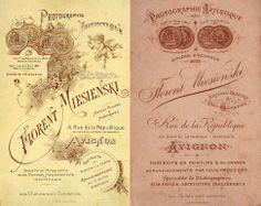 Florent MIESIENSKI, Photographie artistique - Avignon (Paul Miesienski eut deux fils, Florent et Paul)