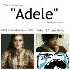 What us GA-fans think of Adele. Not the singer Adele😝 Watch Greys Anatomy, Greys Anatomy Memes, Grey Anatomy Quotes, Grays Anatomy, Movies And Series, Movies And Tv Shows, Anatomy Humor, Dark And Twisty, Grey Stuff