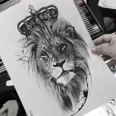 ▷ 1001 + cool lion tattoo ideas for inspiration - realistic lion head . - ▷ 1001 + cool lion tattoo ideas for inspiration – realistic lion head drawing, tattoo template - Lion Head Tattoos, Mens Lion Tattoo, Leo Tattoos, Animal Tattoos, Cute Tattoos, Body Art Tattoos, Tattoos For Guys, Lion Back Tattoo, Lion Tattoo Sleeves