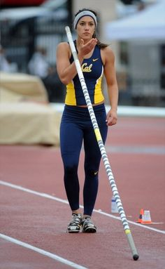 - athletic woman - Girls of College Sports - Allison Stokke - UC Berkeley - Pole Vault, Sports Pictures, Athletic Women, Athletic Wear, Female Athletes, Women Athletes, Track And Field, Sport Girl, Olympic Games