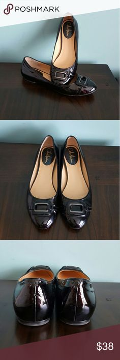 Cole Haan Nike Air Black Patent Flats w/ Buckle Gently loved. Super comfy Nike technology! All signs of wear evidenced in photos. No damage or scuffs. All reasonable offers considered. Absolutely love these just too big for me. Cole Haan Shoes Flats & Loafers