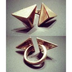 Кольцо - треугольники, $15.74 Cufflinks, Watch, Rings, Accessories, Products, Clock, Wedding Cufflinks, Ring, Gadget