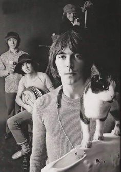 Small Faces - founded in by Steve Marriott, Ronnie Lane, Kenney Jones, and Jimmy Winston - although by 1966 Winston was replaced by Ian McLagan as the band's keyboardist. 60s Music, Music Icon, Ernest Hemingway, Beatles, Kenney Jones, Ronnie Lane, Steve Marriott, Celebrities With Cats, The Ventures