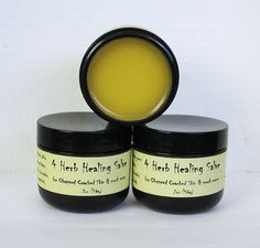 4 Herb Healing Salve Infused with Calendula, Chamomile, Lavender & Comfrey Root.