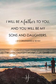 Father's Day. For some that is a wonderful day. For others it is a weary day. No matter what your experience has been with your earthly father, know this…you have a daddy who loves you.