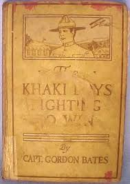 """The Khaki Boys Fighting to Win by Capt. Gordon Bates; Cupples & Leon Company 1919; appears to be 1st Edition.  Inscription on front cover, """"Kerwist R. Rhoads, Dec 25, 1920. From his teacher, Clara V. Johnson.  Cannot find another copy * 50 / 1370"""