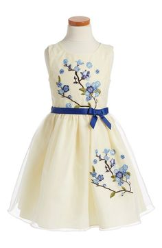 Iris & Ivy Embroidered Sleeveless Dress (Toddler Girls, Little Girls & Big Girls) available at #Nordstrom