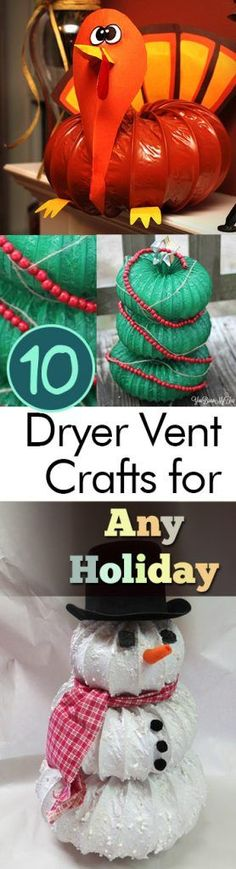 holiday hacks 10 Dryer Vent Crafts for Any Holiday - holiday Homemade Crafts, Diy Crafts To Sell, Diy Crafts For Kids, Easy Crafts, Kids Diy, Christmas Crafts For Kids, Holiday Crafts, Christmas Diy, Xmas