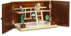 Wall mounted bird playground