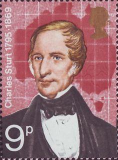 British Explorers 9p Stamp (1973) Charles Sturt