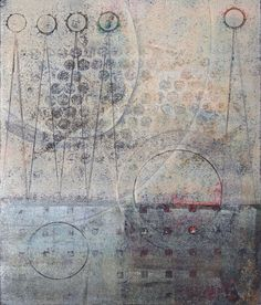 """Remind Me Later, monotype by Anne Moore, 11""""x 9"""""""