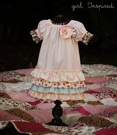 i need to make a peasant dress again for Lillie and ad ruffles like this! so cute!