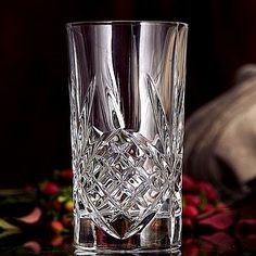 Godinger Dublin Crystal Highball Glasses Set Of 4 - 10 oz Capacity Bohemian Kitchen, Crystal Glassware, Luck Of The Irish, Vintage Glassware, Cut Glass, Handmade Silver, Dublin, Tumbler, Bodysuit