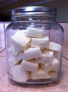 Homemade Dishwasher Tablet Soaps - that work!!