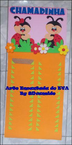 Arte Encantada do EVA-By Silvaneide: Chamadinha Joaninha