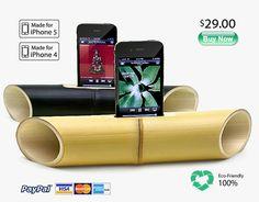iBamboo: electricity-Free speaker