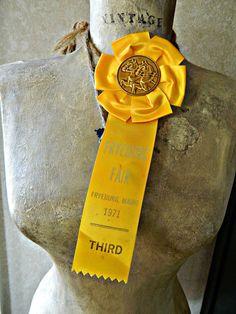 Crisp vintage horse show ribbon by luciwallisshop on Etsy, $5.50