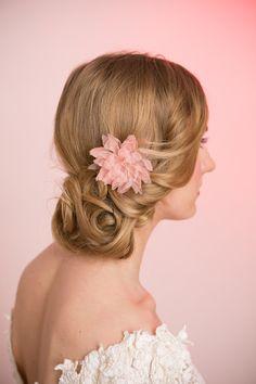 Wedding Hair Accessory Bridal Flower Silk Organza by MilaKolitsova