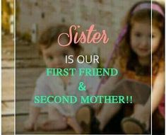 A Sister is an angel sent by God; She stands by your side through the good as well as the bad; And loves you when you don't love yourself. Tag-mention your sister 💜💚💛👍 Sweet Sister Quotes, Brother N Sister Quotes, Brother And Sister Relationship, Wishes For Sister, Sister Quotes Funny, Funny Quotes, Qoutes, Sibling Quotes, Family Quotes