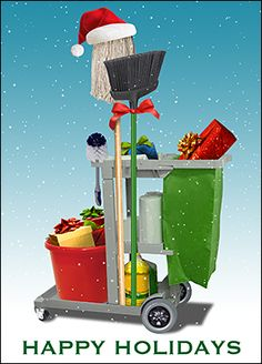 Customize Cleaning Service Christmas Cards Online   Ziti Cards