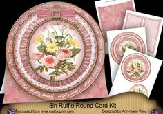 Pink Mix Happy Easter 8inch Round Ruffle Mini Card Kit on Craftsuprint - Add To Basket!