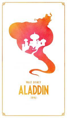 Aladdin Classic Disney Movie Posters - Created by Keith Bogan Aladin Disney, Disney Pixar, Disney Amor, Film Disney, Arte Disney, Disney Animation, Disney And Dreamworks, Disney Love, Disney Magic