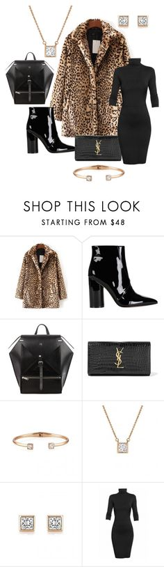"""""""Faux Fur Faux Sure!"""" by buckleylondon on Polyvore featuring Sigerson Morrison, Yves Saint Laurent and Undress"""