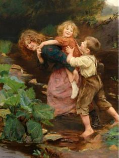 Pick-a-back ~ Arthur John Elsley (1860 – 1952, English)