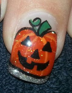 halloween pumpkin nail art some of the other part of my morning project - Pumpkin Nail Design Halloween
