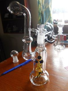 Oil rig w/ Domeless Quartz nail by HHMJewelry on Etsy, $140.00