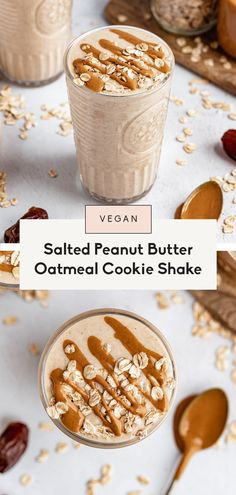 Vegan Oatmeal Cookies, Vegan Peanut Butter Cookies, Peanut Butter Oatmeal, Healthy Peanut Butter, Ice Cream Smoothie, Blueberry Banana Smoothie, Dairy Free Recipes, Raw Food Recipes, Kitchen Recipes