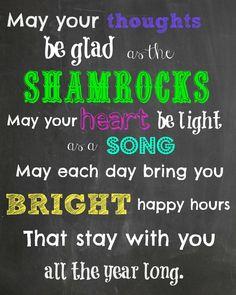Irish quote - St. Patrick's Day printable.