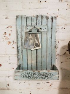 Painted Cottage Chic Shabby Mail Holder HD69 by paintedcottages