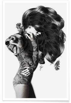 Bear 2 als Premium poster door Jenny Liz Rome   JUNIQE
