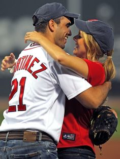 Ali Fedotowsky and Roberto Martinez at Fenway Park