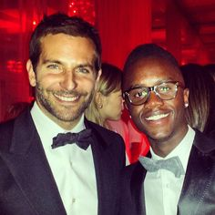 Pin for Later: Remember When Lupita's Brother Had the Best Award Season Ever? He and Bradley Cooper Both Wore Bow Ties Source: Instagram user nyongolaflame