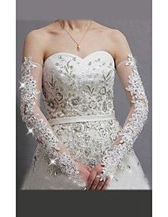 Lace/Tulle Opera Length Wedding/Party Glove – USD $ 17.99